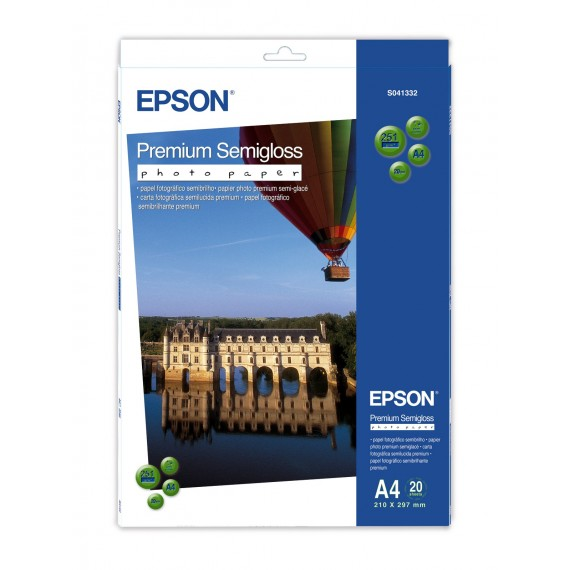 Epson A3 Premium Semigloss Photo Paper 250g, 20 sheets