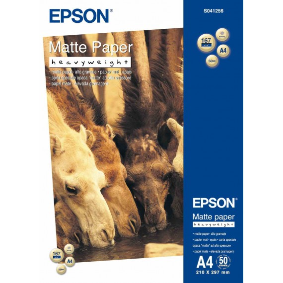 Epson A4 Matte Paper Heavyweight 167g, 50 sheets