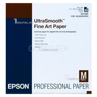 Epson UltraSmooth FineArt Paper, 325g, A2, 25 ark