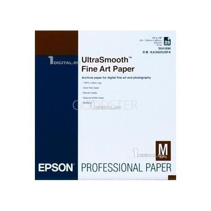 Epson UltraSmooth FineArt Paper 325, A2, 25 ark