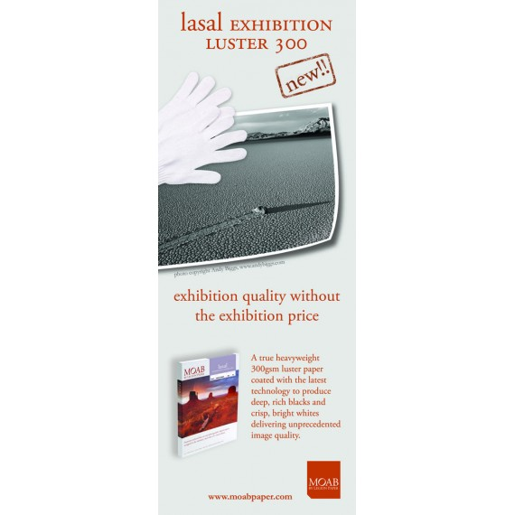 """Moab Exhibition Luster 300, 44""""x30,5m rull"""