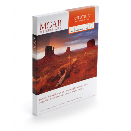 Moab Entrada Bright 300, A3+, 25 ark, tosidig, kritthvitt kunstfotopapir