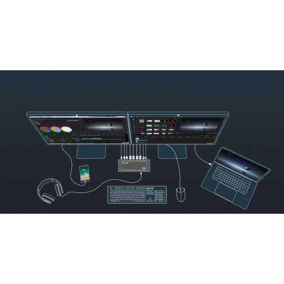 WAVLINK USB-C 4K Dual docking stasjon med opp til 100W lading.