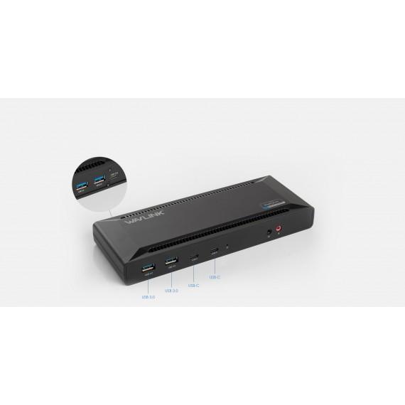 WAVLINK USB-C DUAL 4K DUAL DOCKING STASJON, 65W LADING. UG69PD2.