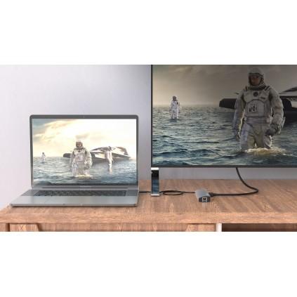 WAVLINK USB-C travel mini dock, 4K HDMI2.0 10-BIT og gigabit nettverk