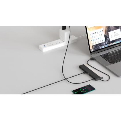 WAVLINK docking stasjon med VGA, DISPLAY PORT, HDMI OG USB-C