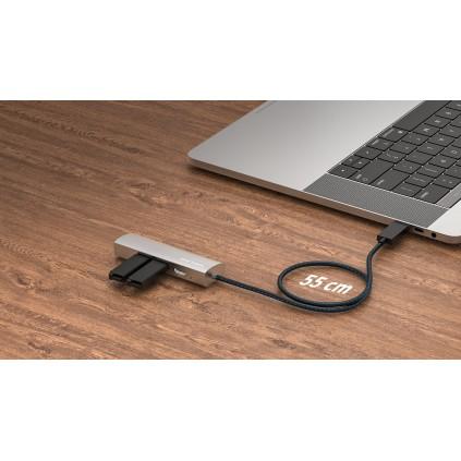 WAVLINK USB-C travel mini dock, 4K HDMI2.0 10-BIT & gigabit nettverk