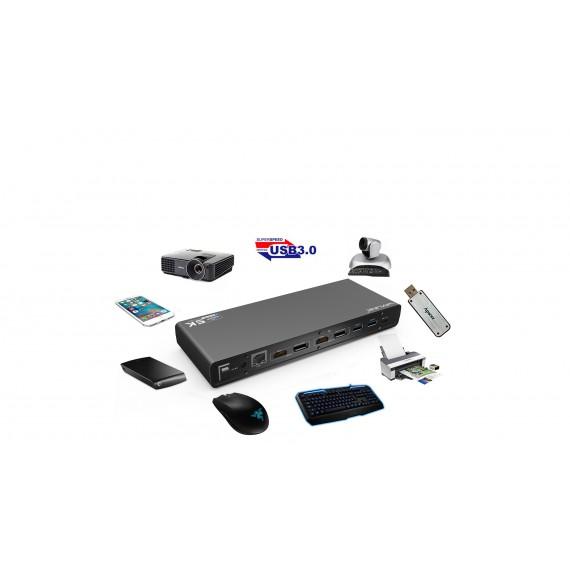 WAVLINK USB-C 4K Dual docking stasjon med 100 watt lading