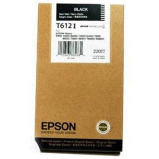 EPSON PHOTO BLACK, 220ml, StylusPro 74xx/78xx/94xx/98xx, T6121