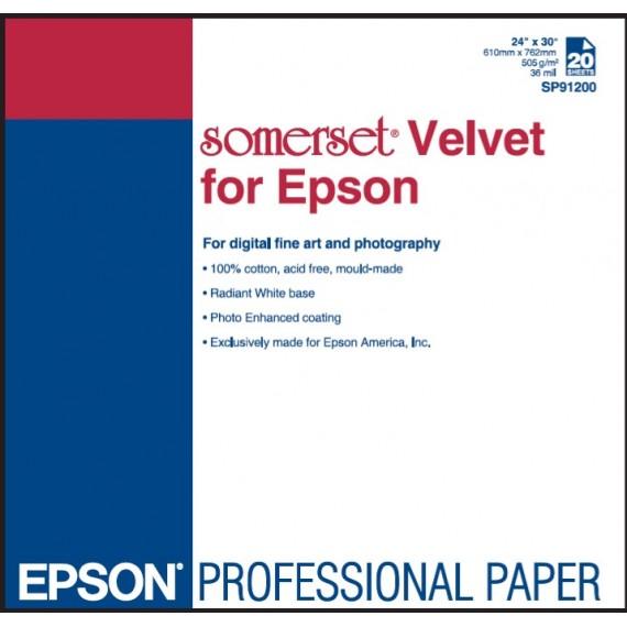 """Epson Somerset Velvet, 255gr, 24"""" x 15m"""