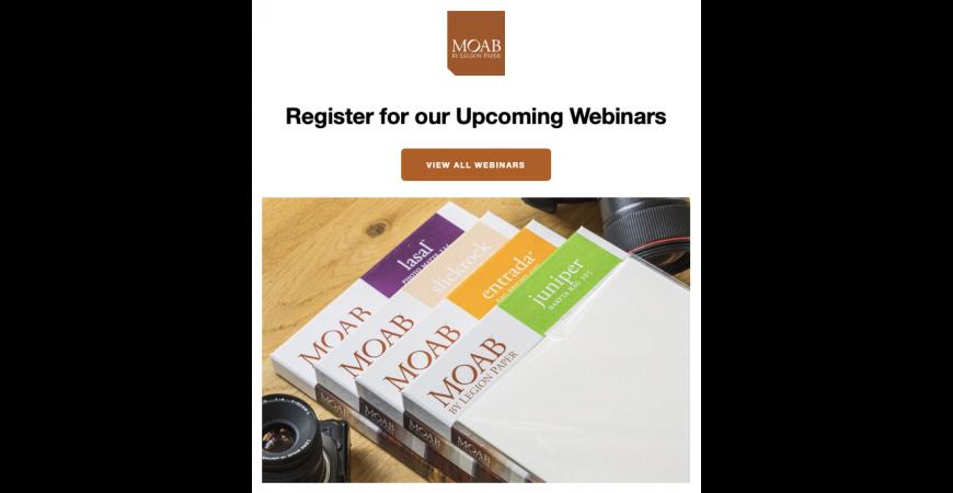 Gratis webinarer fra Moab Paper